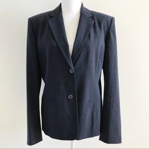 Talbots Wool Blend Stretch Gray Blazer Jacket 10